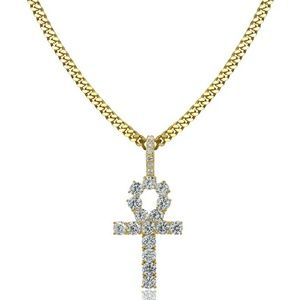 Other - Gold Egyptian Ankh Key Life Pendant Necklace Chain